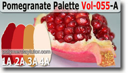 Pomegranate Color Palette by Polymer Clay Tutor