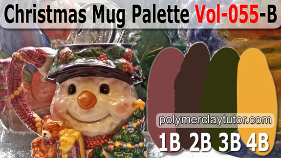 Christmas Mug Color Palette by Polymer Clay Tutor