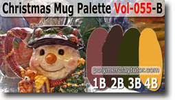 Christmas Mug Palette by Polymer Clay Tutor