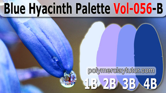 Blue Hyacinth Color Palette by Polymer Clay Tutor