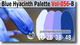 Blue Hyacinth Palette by Polymer Clay Tutor