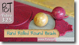Round Polymer Clay Beads Rolled By Hand