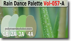 Rain Dance Palette by Polymer Clay Tutor