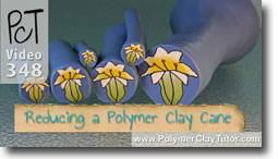 Easter Lily Cane Polymer Clay Tutor