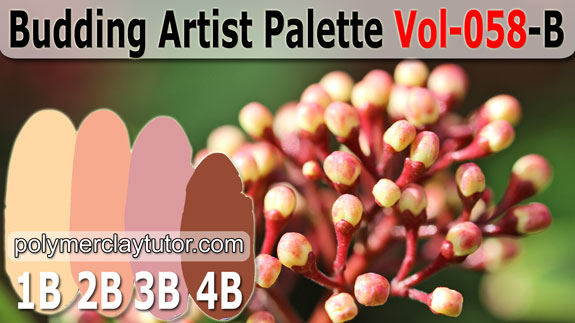 Budding Artist Color Palette by Polymer Clay Tutor