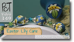Pt 1 Easter Lily Cane - Polymer Clay Tutor