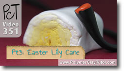 Pt 3 Easter Lily Cane Project - Polymer Clay Tutor