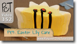 Pt 4 Easter Lily Cane Project - Polymer Clay Tutor
