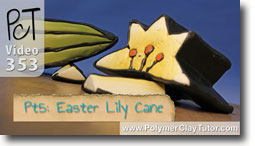 Pt 5 Easter Lily Cane Project - Polymer Clay Tutor