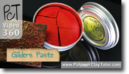 Using Gilders Paste On Your Polymer Clay
