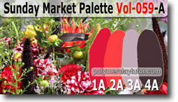 Sunday Market Palette by Polymer Clay Tutor