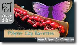 Pt 1 Polymer Clay Barrettes - Polymer Clay Tutor