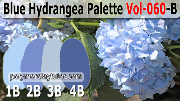 Blue Hydrangea Color Palette by Polymer Clay Tutor
