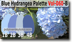Blue Hydrangea Palette by Polymer Clay Tutor