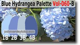 Blue Hydrangea Palette by Polymer Clay Tutor