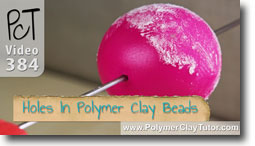 Holes in Polymer Clay Bea