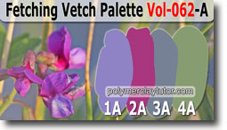Fetching Vetch Palette by Polymer Clay Tutor