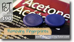 Removing Fingerprints From Polymer Clay Using Acetone