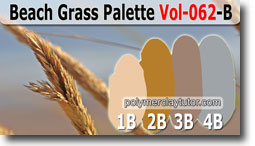 Beach Grass Palette by Polymer Clay Tutor
