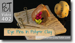 Eye Pins Polymer Clay