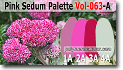 Pink Sedum Palette by Polymer Clay Tutor