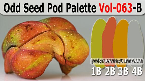 Odd Seed Pod Palette by Polymer Clay Tutor