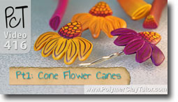 Cone Flower Canes - Polymer Clay Tutor