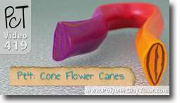 Pt 4 Cone Flower Canes - Polymer Clay Tutor