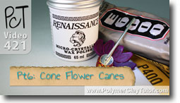 Pt 6 Cone Flower Canes - Polymer Clay Tutor