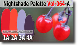 Nightshade Berries Palette by Polymer Clay Tutor