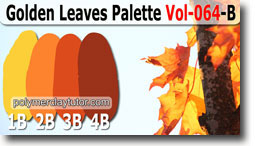 Golden Leaves Palette by Polymer Clay Tutor