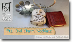 Owl Charm Necklace - Polymer Clay Tutor