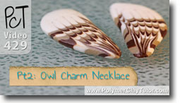 Pt 2 Owl Charm Necklace - Polymer Clay Tutor