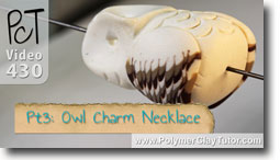 Pt 3 Owl Charm Necklace - Polymer Clay Tutor
