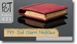 Pt 4 Owl Charm Necklace - Polymer Clay Tutor