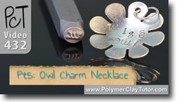Pt 5 Owl Charm Necklace - Polymer Clay Tutor