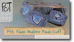 Pt 3 Faux Abalone Paua Cuff Tutorial - Polymer Clay Tutor