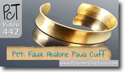 Pt 4 Faux Abalone Paua Cuff Tutorial - Polymer Clay Tutor