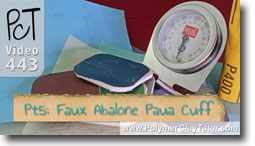Pt 5 Faux Abalone Paua Cuff Tutorial - Polymer Clay Tut
