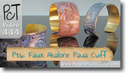 Pt 6 Faux Abalone Paua Cuff Tutorial - Polymer Clay Tut