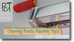 Cleaning Pasta Machine Tip 2 Scraper Buildup
