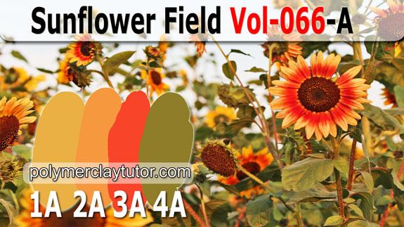 Sunflower Field Palette by Polymer Clay Tutor
