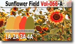 Sunflower Field Palette by Polymer Clay Tutor