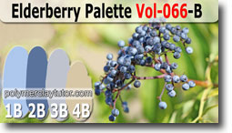 Elderberry Palette by Polymer Clay Tutor