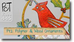 Polymer & Laser Cut Wood Ornaments - Polymer Clay Tutor