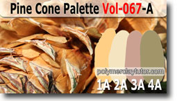 Pine Cone Palette by Polymer Clay Tutor
