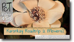 Polymer Clay Flowers by Karonkay Cowger