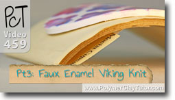 Pt 3 Faux Enamel & \viking Knit Tutorial - Polymer Clay Tutor