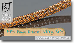 Pt 4 Faux Enamel & \viking Knit Tutorial - Polymer Clay Tutor