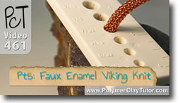 Pt 5 Faux Enamel & \viking Knit Tutorial - Polymer Clay Tutor